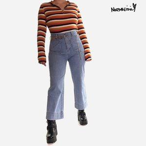 Y2K Urbänlike Patch Pocket•Wide-Leg Ankle Jeans